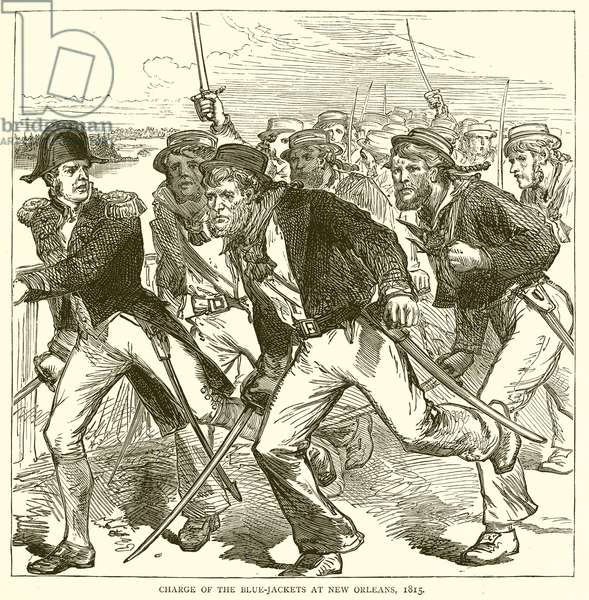 Charge of the Blue-Jackets at New Orleans, 1815 (engraving)