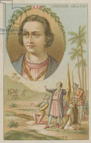 Christopher Columbus, Genoese navigator (chromolitho)