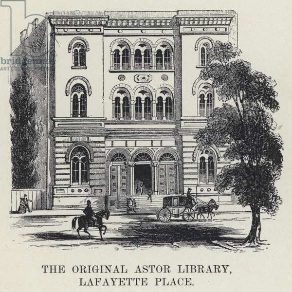 The Original Astor Library, Lafayette Place (b/w photo)