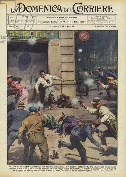 La fine di Dillinger (colour litho)