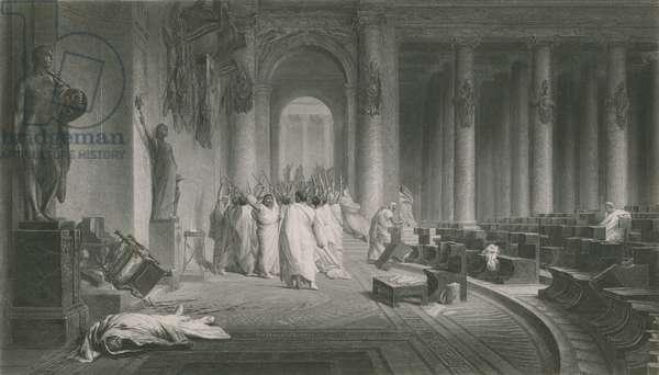 The Death of Caesar, Julius Caesar (engraving)