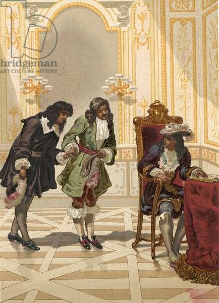 Giovanni Domenico Cassini presented to Louis XIV by Colbert