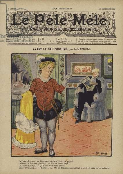 Avant le bal costume. Illustration for Le Pele-Mele, 1901 (colour litho)