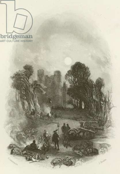 The King's Camp, before Donnington Castle (engraving)