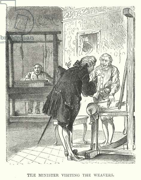 The Minister visiting the Weavers (engraving)