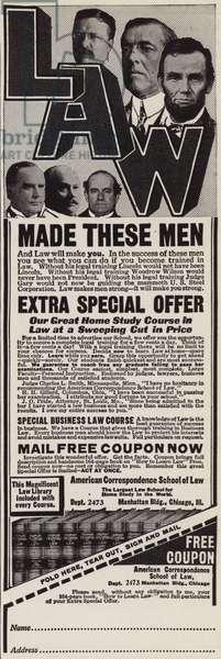 Advertisement to recruit lawyers (litho)
