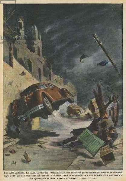 Una citta distrutta (colour litho)