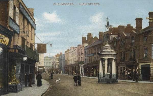 High Street, Chelmsford (coloured photo)
