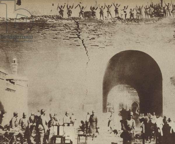 Japanese invasion of China, 1937 (b/w photo)