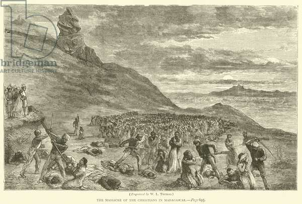The Massacre of the Christians in Madagascar (engraving)