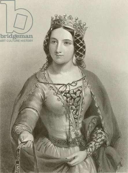 Anne of Warwick, queen of king Richard III (engraving)