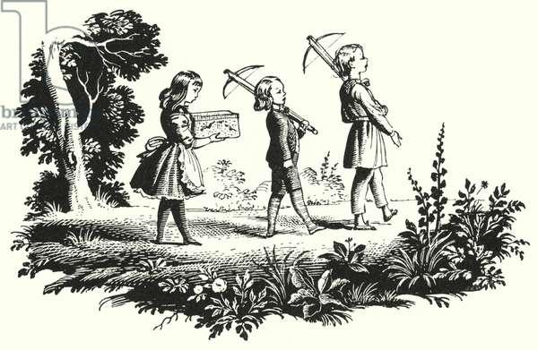 Hans Christian Andersen: Little Ida's Flowers (litho)
