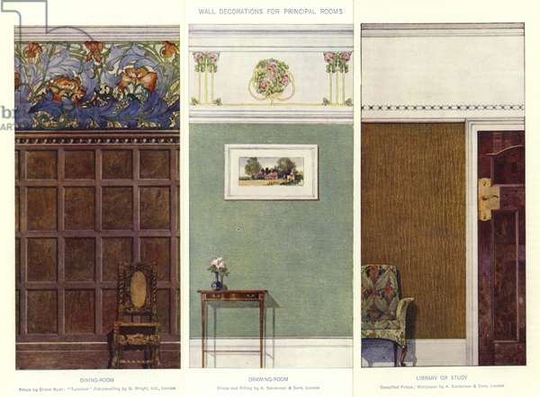 Wall Decorations for Principal Rooms (colour litho)