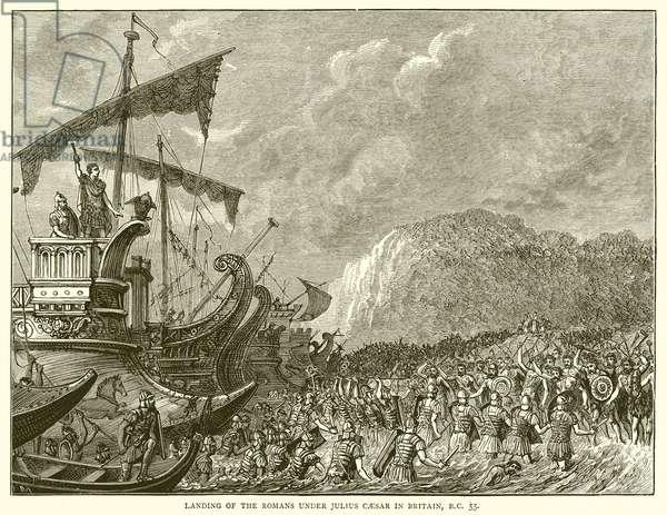 Landing of the Romans under Julius Caesar in Britain, B.C. 55 (engraving)
