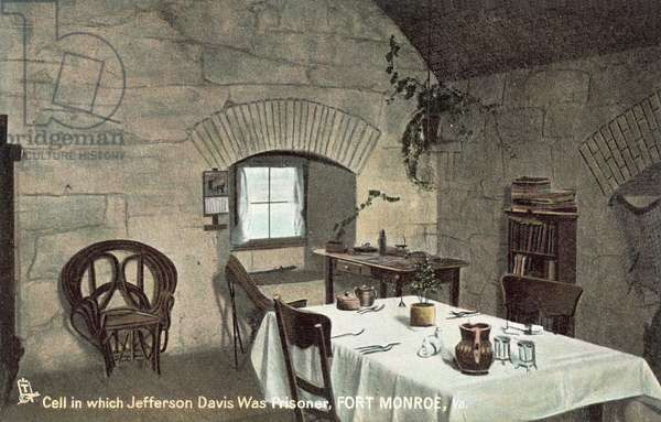 Jefferson Davis's cell, Fort Monroe (colour photo)