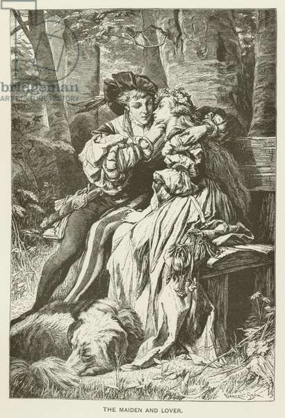 The maiden and lover (engraving)
