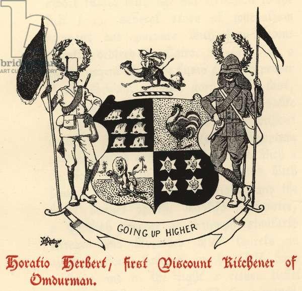 Horatio Herbert, first Viscount Kitchener of Omdurman (engraving)