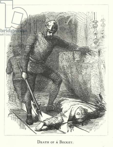 Death of a Becket (engraving)