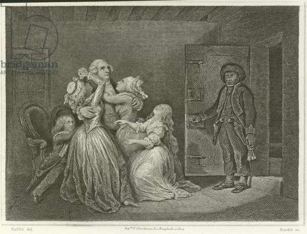 Louis XVI and his family (engraving)