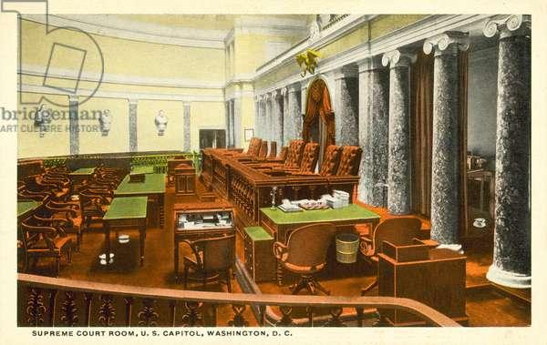Supreme Court Room, US Capitol, Washington, DC, USA (colour photo)