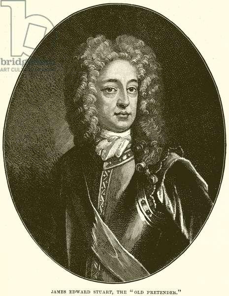 "James Edward Stuart, the ""Old Pretender."" (engraving)"
