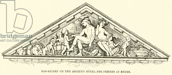 Bas-Relief on the Ancient Hotel des Fermes at Reims (engraving)