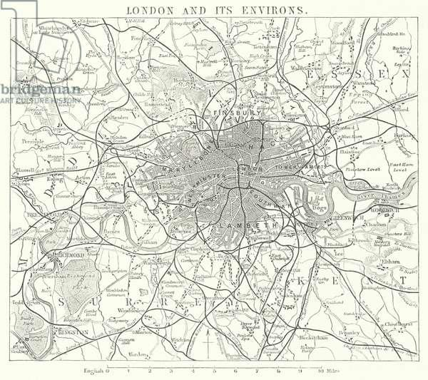 London and its Environs (engraving)