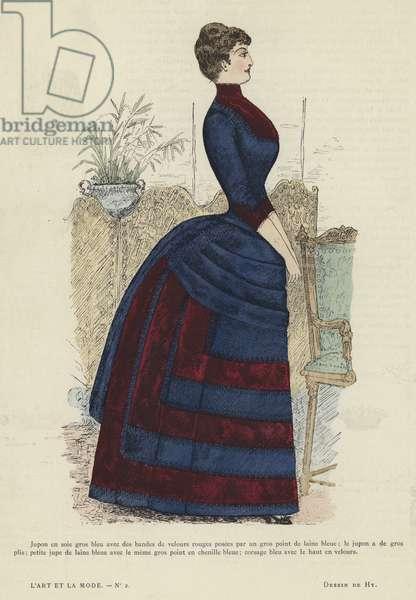 French fashion plate, 1885-86 (colour litho)