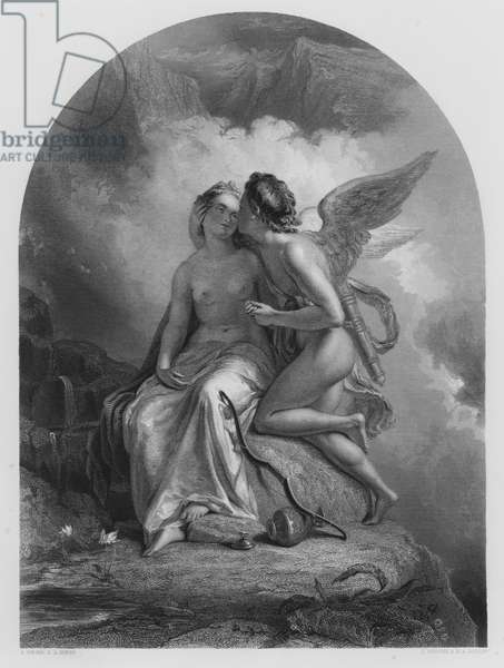 Cupid and Psyche, from the picture in the Royal Collection (engraving)