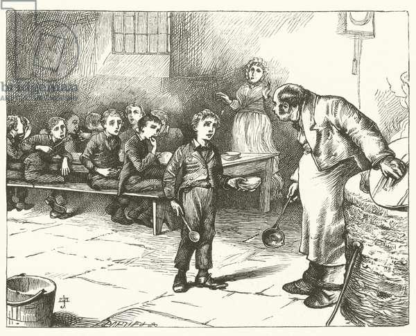 Illustration for Oliver Twist (engraving)
