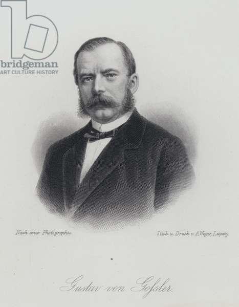 Gustav von Gossler, German lawyer and administrator (engraving)