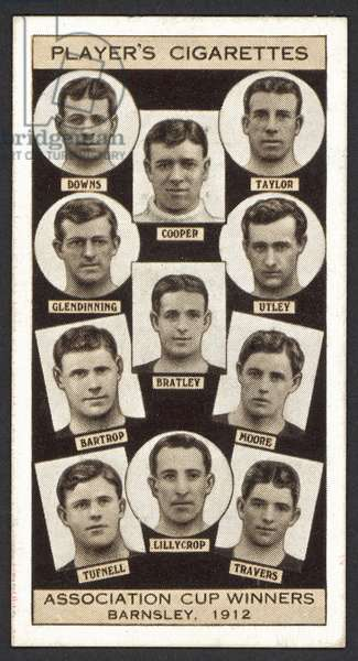 Association Cup Winners, Barnsley, 1912 (litho)