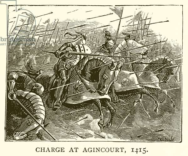 Charge at Agincourt, 1415 (engraving)