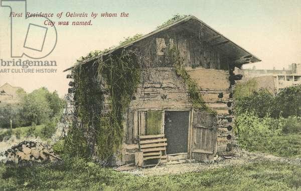 Gustav Oelwein's Hut, Oelwein, Iowa (colour photo)