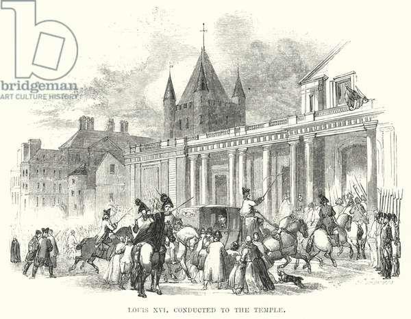 Louis XVI conducted to the Temple (engraving)