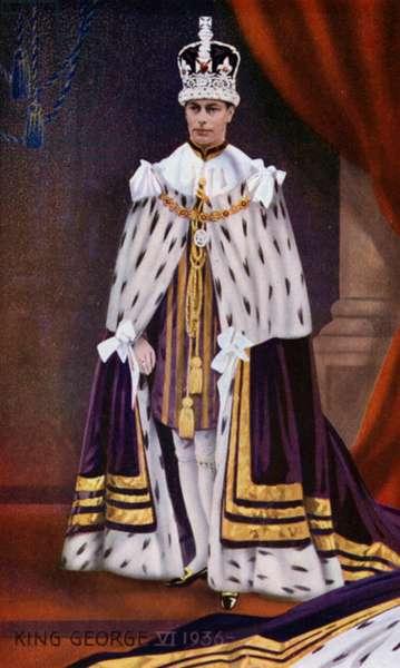 King George VI (colour litho)