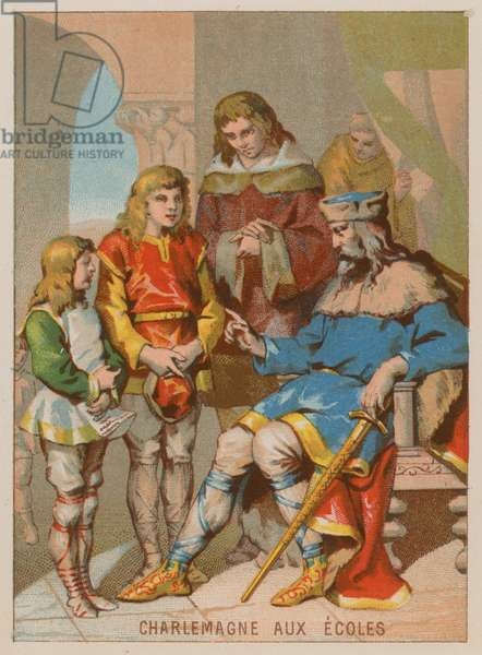 Charlemagne and the importance of education (chromolitho)