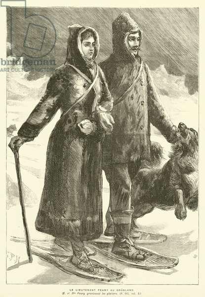 Le Lieutenant Peary Au Gronland (engraving)