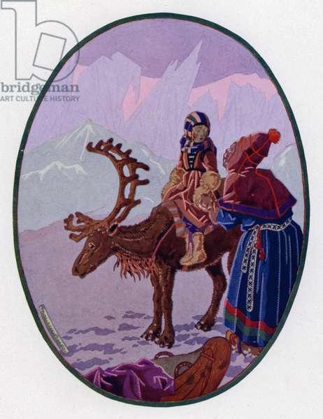 La Reine Des Neiges (colour litho)