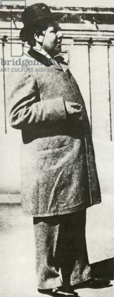 Oscar Wilde, after his release from gaol (b/w photo)