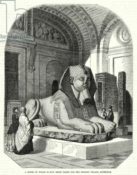 The Great Sphynx of the Louvre (engraving)