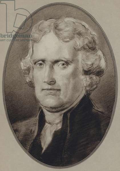 Portraits of American Statesmen: Thomas Jefferson (litho)
