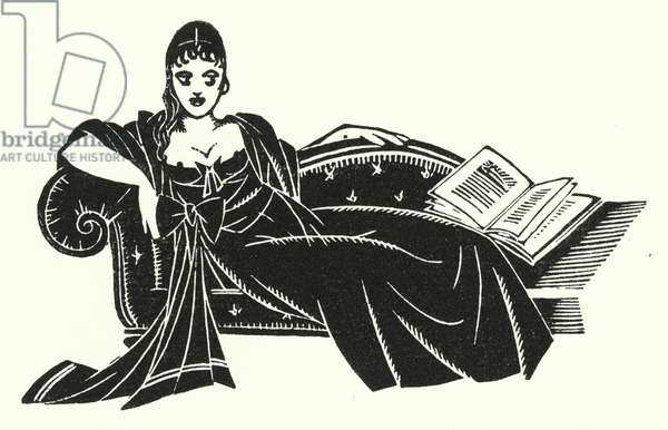 Illustration for Madame Bovary by Gustave Flaubert (litho)