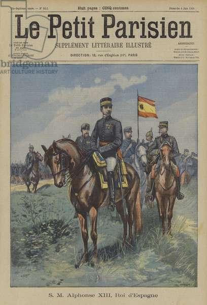 King Alfonso XIII of Spain (colour litho)