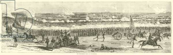 The Confederate Rout at Winchester, September 1864 (engraving)