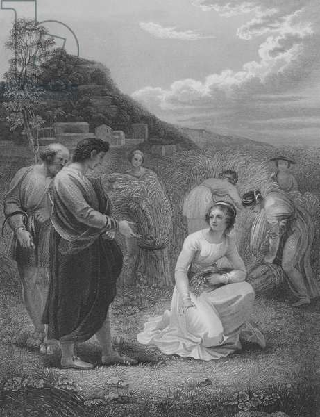Ruth Gleaning, Ruth 2, Verse 1-15 (engraving)