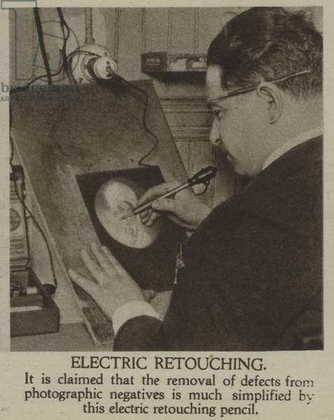 Electric retouching (b/w photo)
