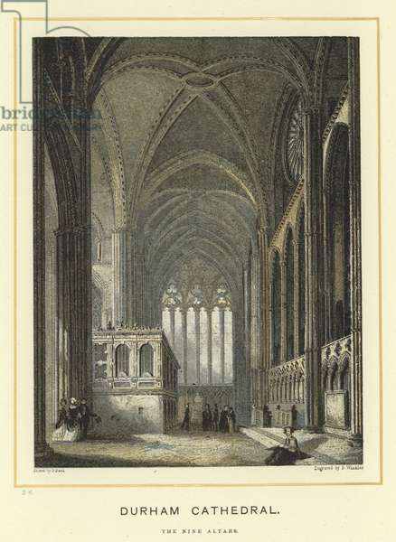 Durham Cathedral, the Nine Altars (colour litho)