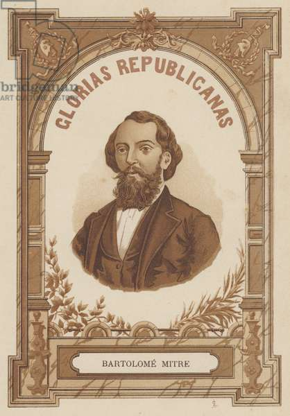 Bartolome Mitre, Argentine politican, soldier and author (litho)