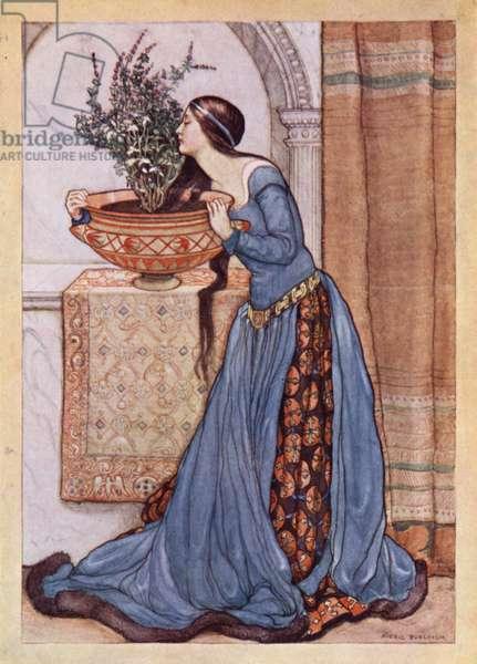John Keats: Isabella, Or, The Pot Of Basil (colour litho)